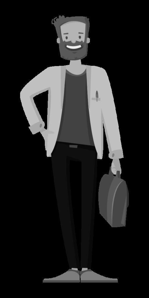 hombre viaje de negocios